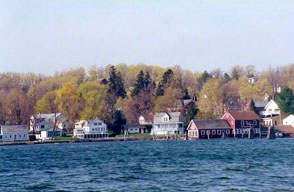 Essex, NY waterfront from Lake Champlain